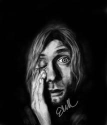 Kurt Cobain - Portrait by midnightbluesonata