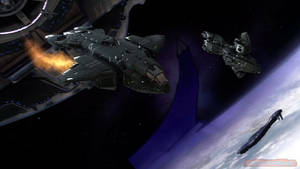 SPACE BATTLE ABOVE HALO 00