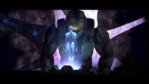 MASTER CHIEF AND CORTANA by victortky