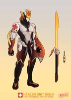 Skin Concept: Healer Unit Genji by The0utlander