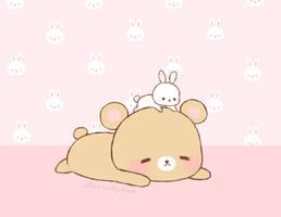 bunny+bear by stardust-palace