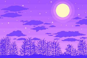 night sky by stardust-palace