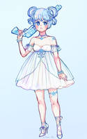 Ice magical girl adoptable (SOLD) by stardust-palace