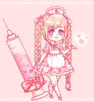 Cherry blossom nurse adopt (SOLD) by stardust-palace