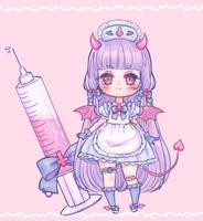Devil Nurse adopt (SOLD) by stardust-palace