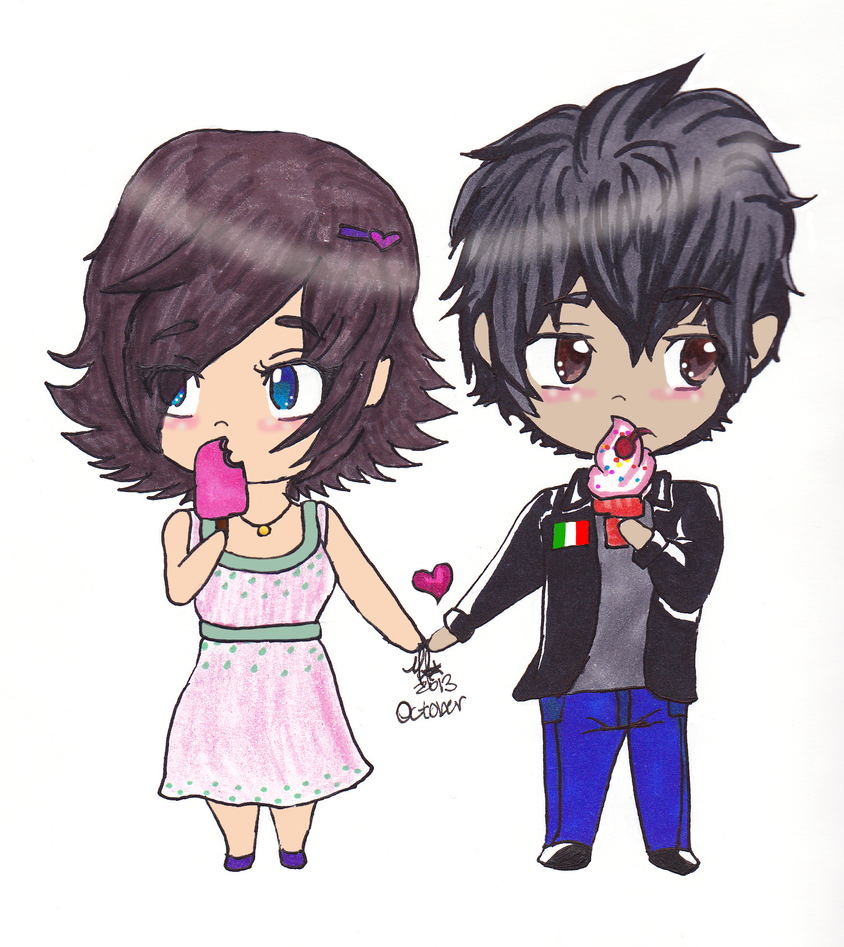 AT-Cute Chibi Couple by RabbitMint on DeviantArt