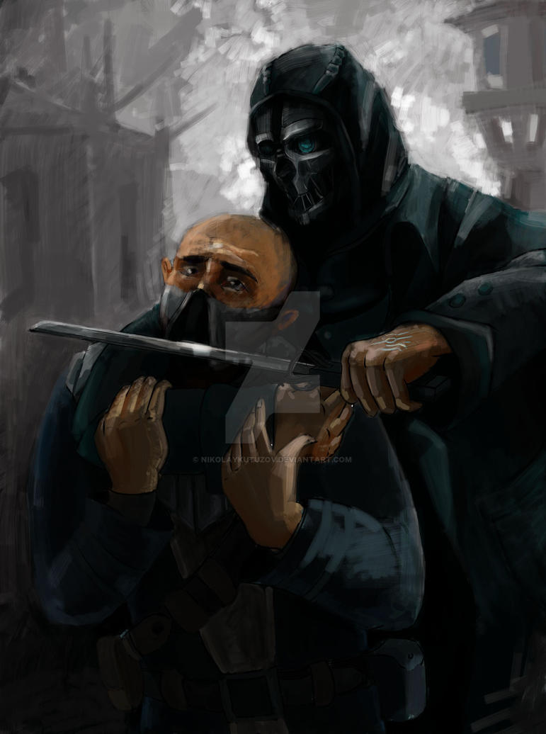 Corvo caught the prey by nikolaykutuzov