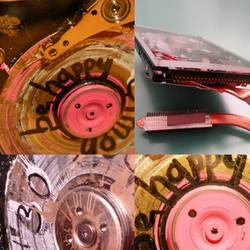 harddisks colors and plexiglass by carlos-nikolaus
