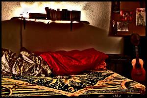 room bed guitar by carlos-nikolaus