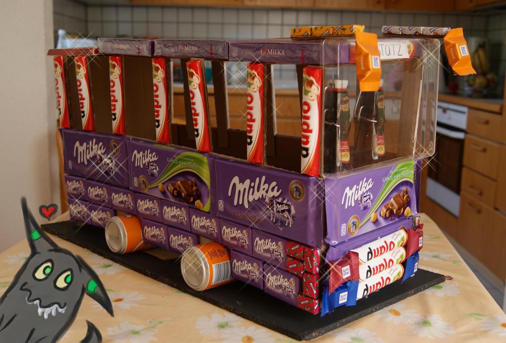 Chocolate bus by xxneo on deviantart for Geschenke selber machen fa r freund