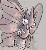 venomoth by SailorClef