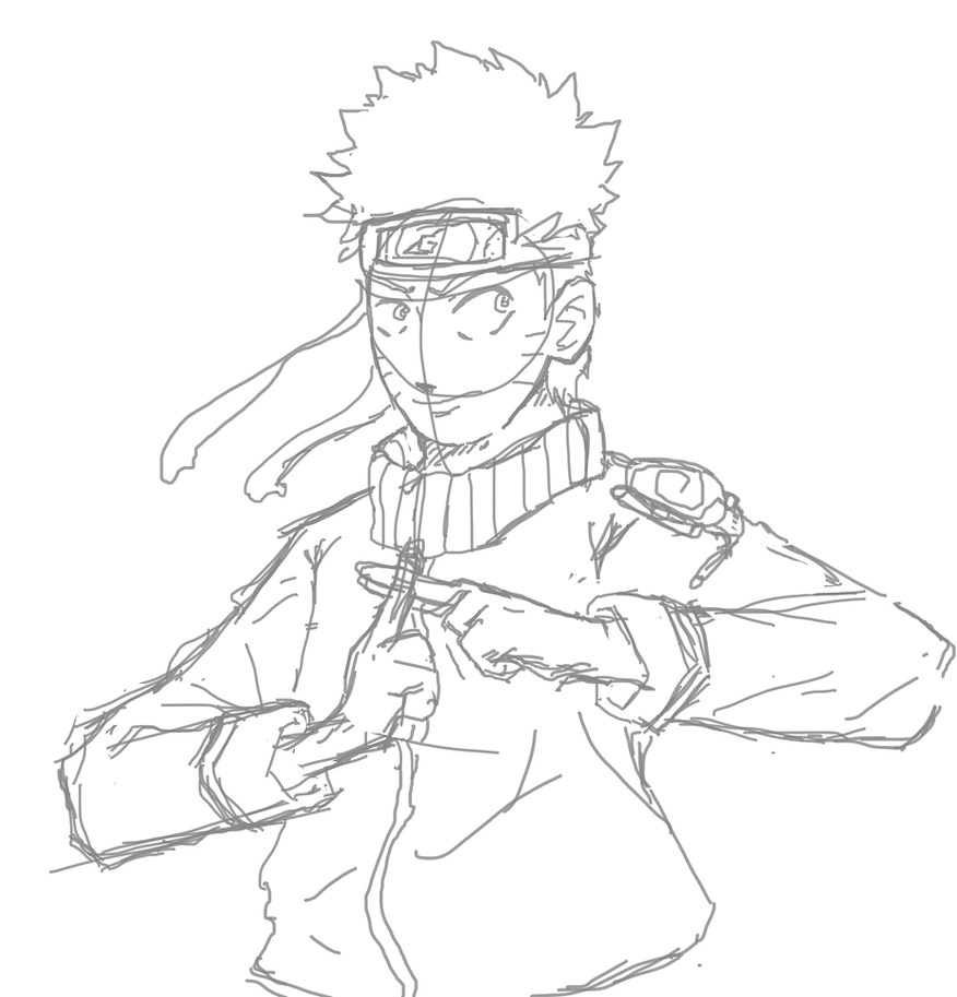 Naruto digital art - WIP by RasengaMike