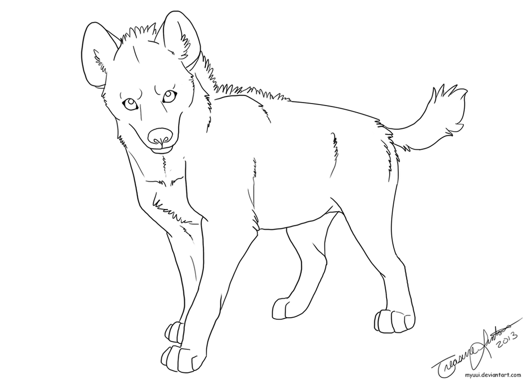 How To Draw Striped Hyena Hyena Coloring Pages
