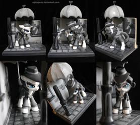 Noir Rarity Detective by AplexPony
