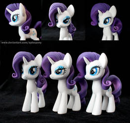 Three faces of Rarity by AplexPony