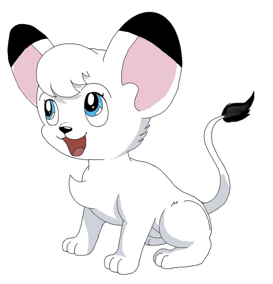 Kimba the white lion by CelestialGalaxies