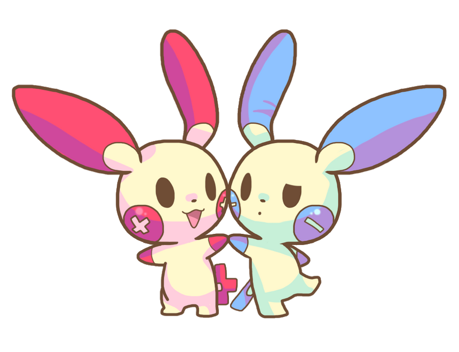 Pokemon - Plusle and Minun by raccooon325Plusle And Minun