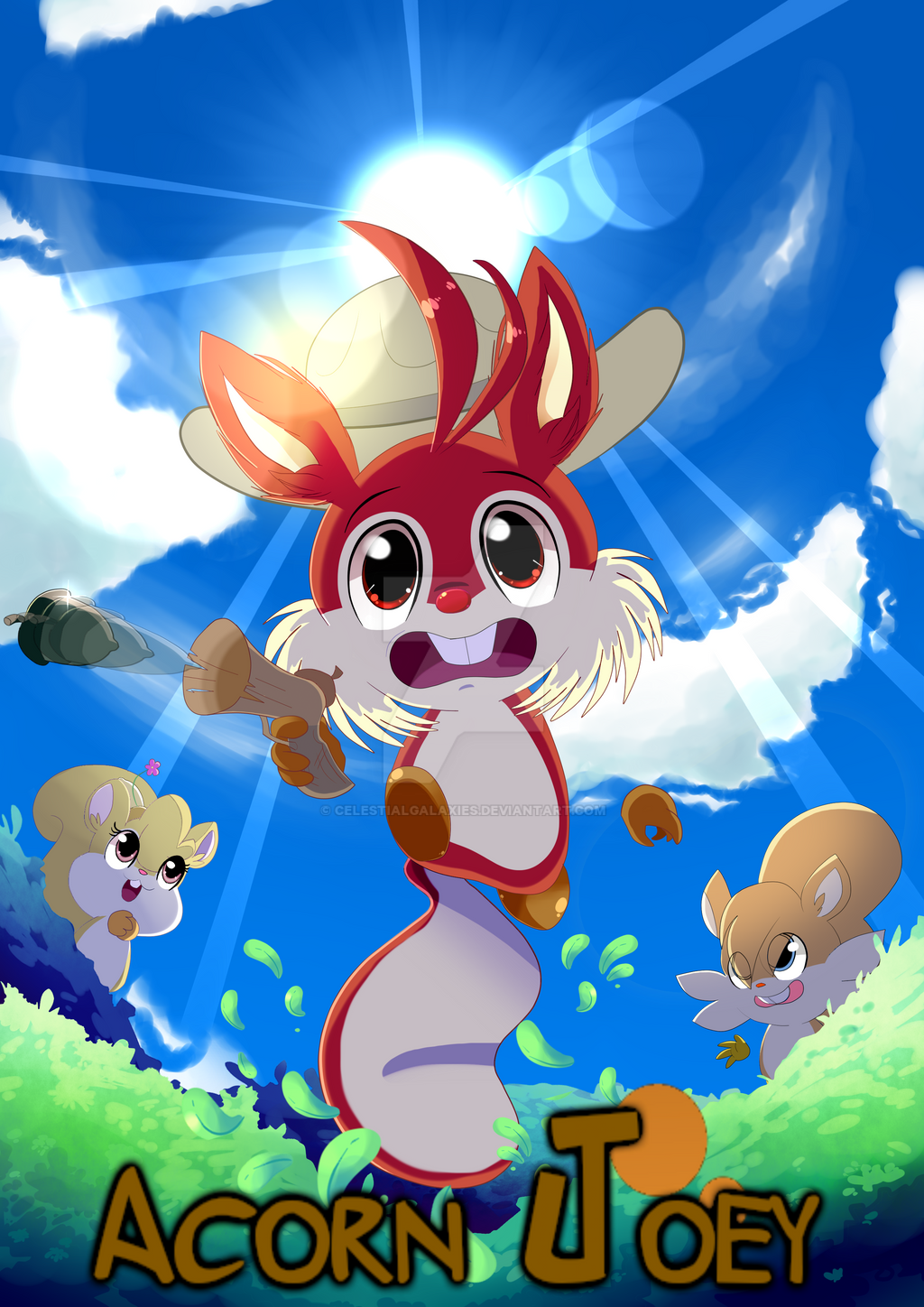 Acorn Joey by CelestialGalaxies
