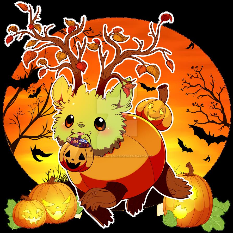 Tuckie and the Pumpkins ~Happy Halloween~ by CelestialGalaxies