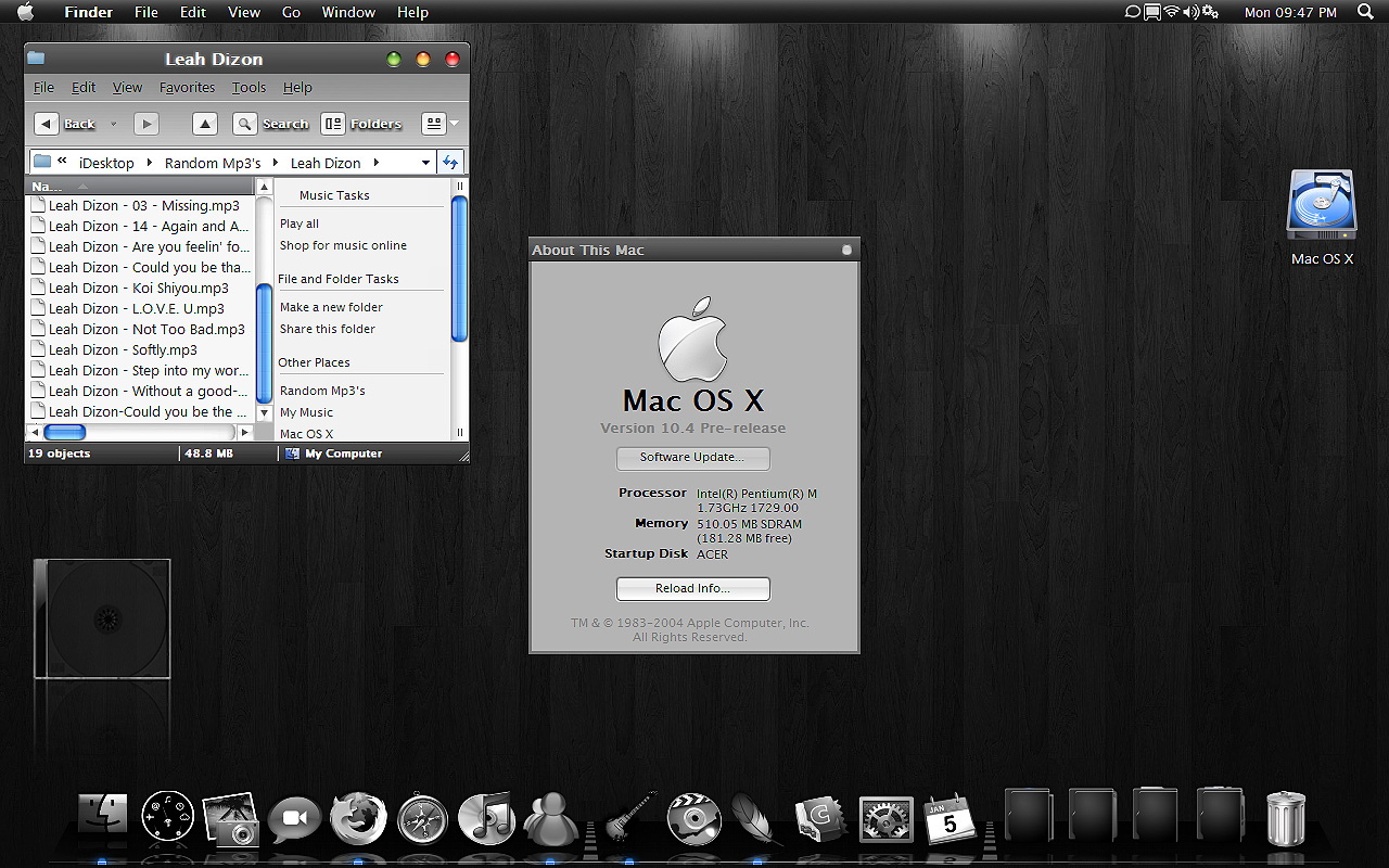 Black Mac OS Xp Theme by MarikKun on DeviantArt