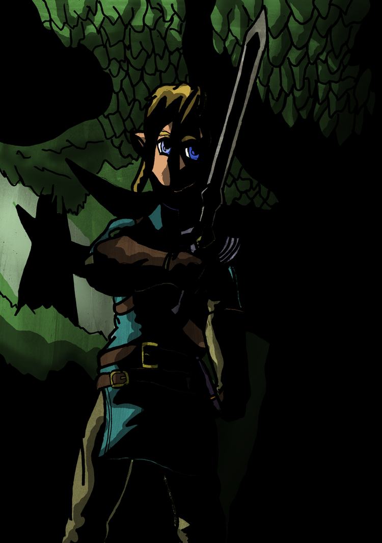 Breath of the Wild - Drawing The Master Sword by WolfNM