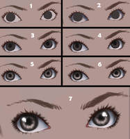 Eyes step by step by CatNinjaX