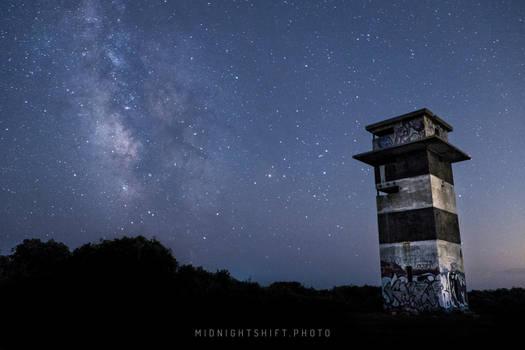 Milkyway Galaxy over Gooseberry Island (three)