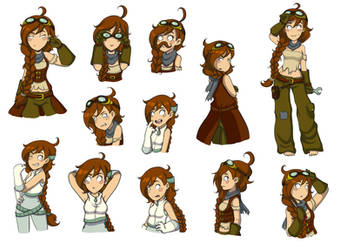 Deponia Oc - Terry by ShinyBlueButterfly