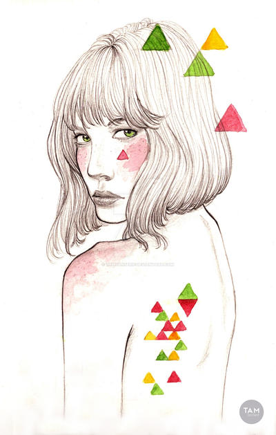 Colored Triangles by TamSanSerif