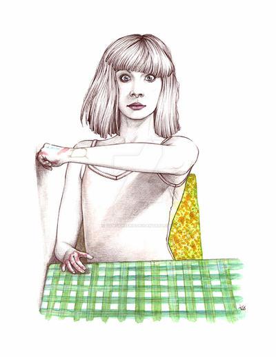 Maddie Ziegler Portrait by TamSanSerif