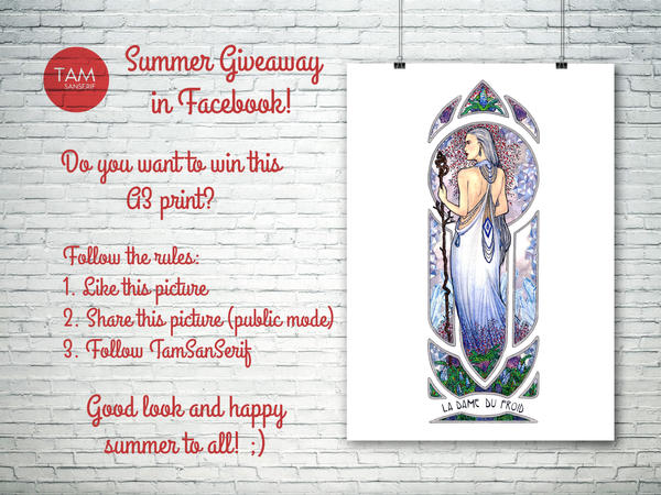 Summer Giveaway! by TamSanSerif