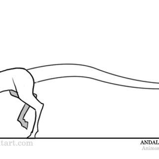 Animated Walking Andalite by Sobuharten