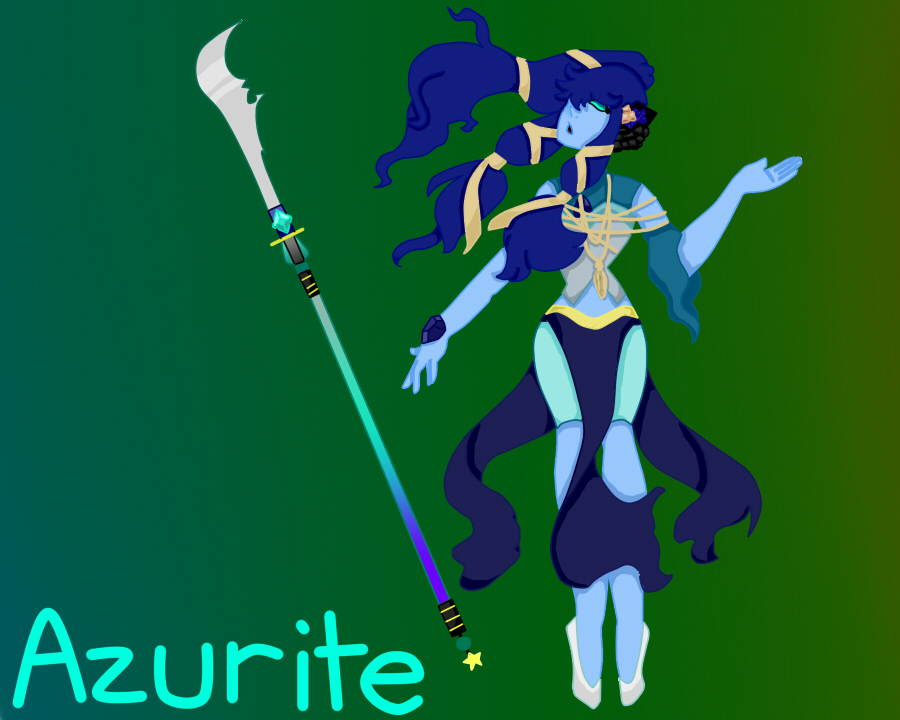 Azurite by pinkiecitrine
