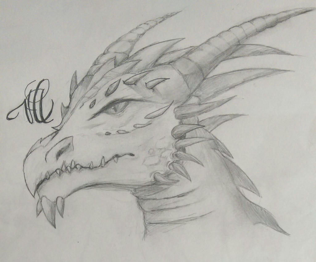Dragon head  by pinkiecitrine