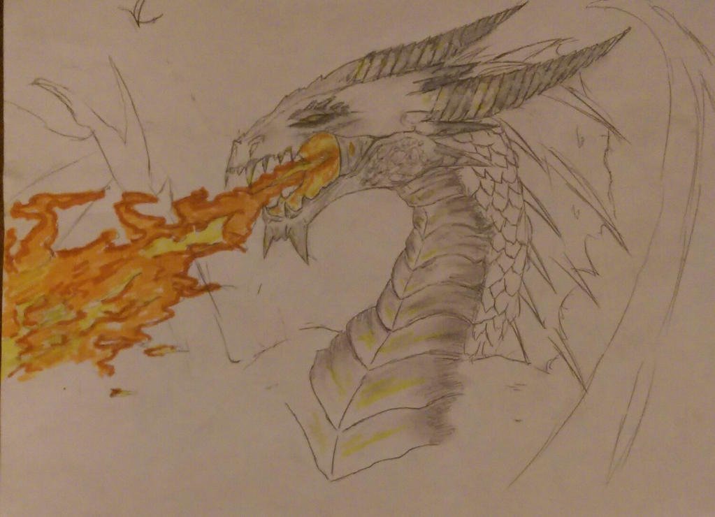 Dragon fire  by pinkiecitrine