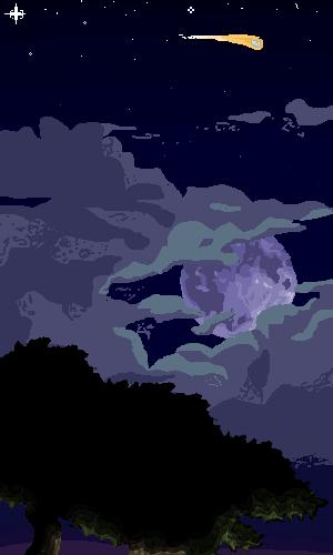 Night sky by pinkiecitrine