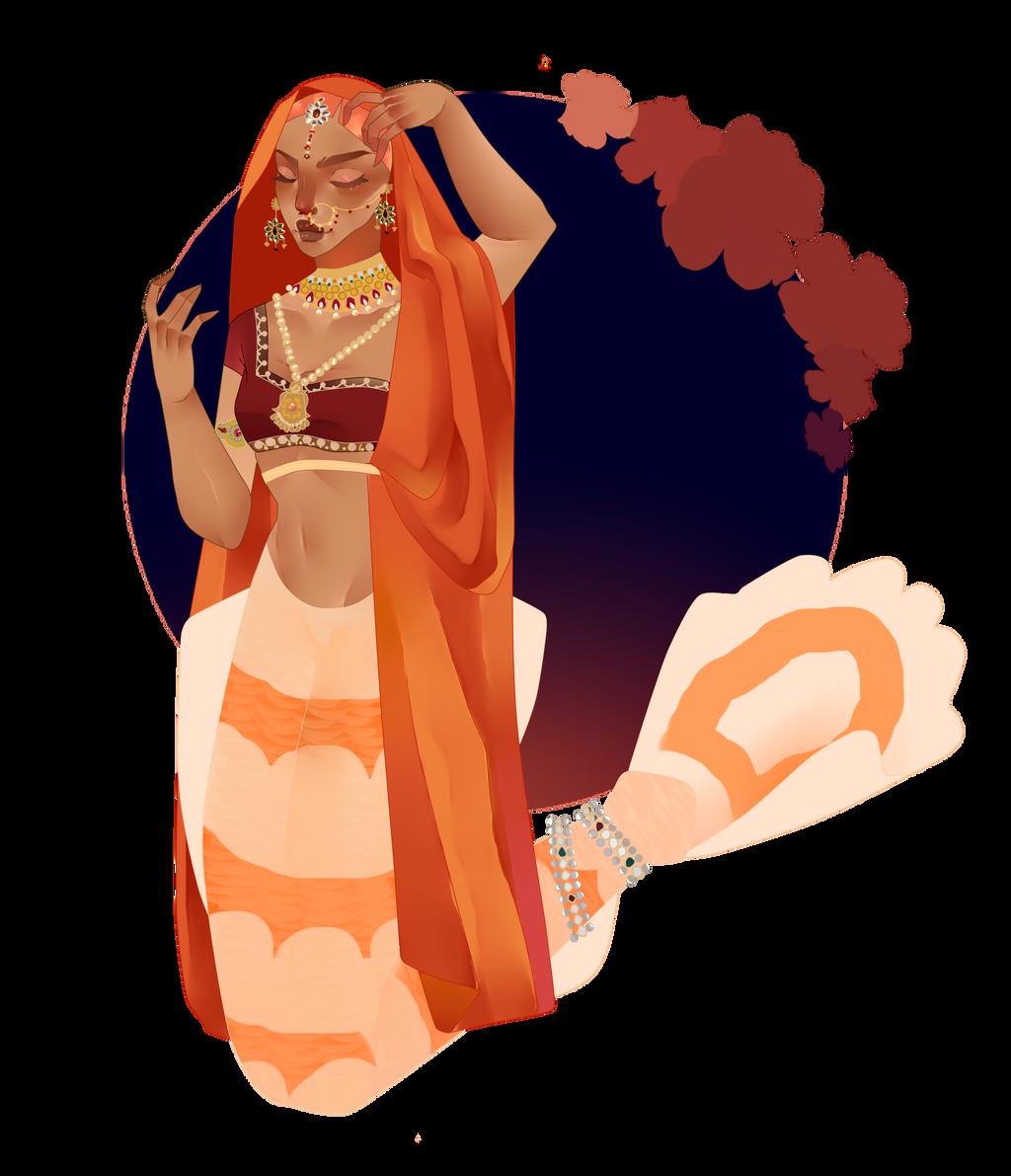 Orange Princess of the Indian Ocean by pinkiecitrine