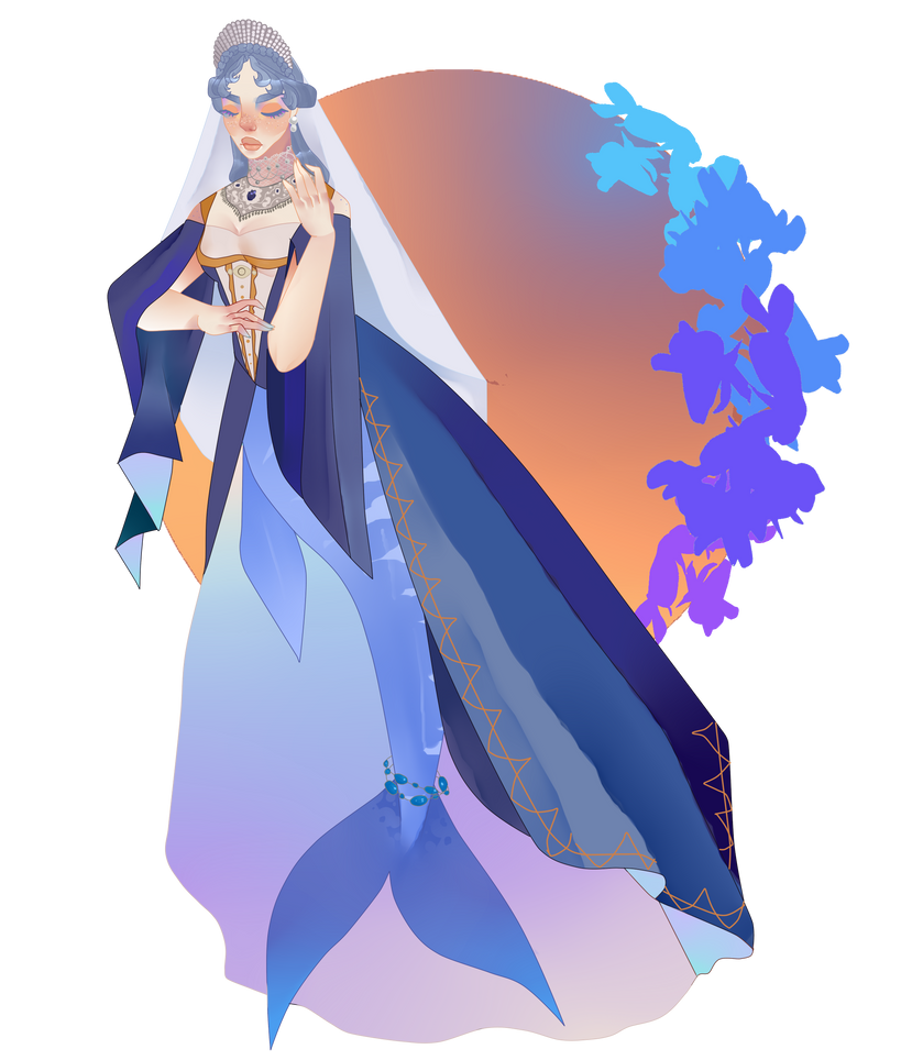 Indigo Princess of the Arctic Ocean by pinkiecitrine