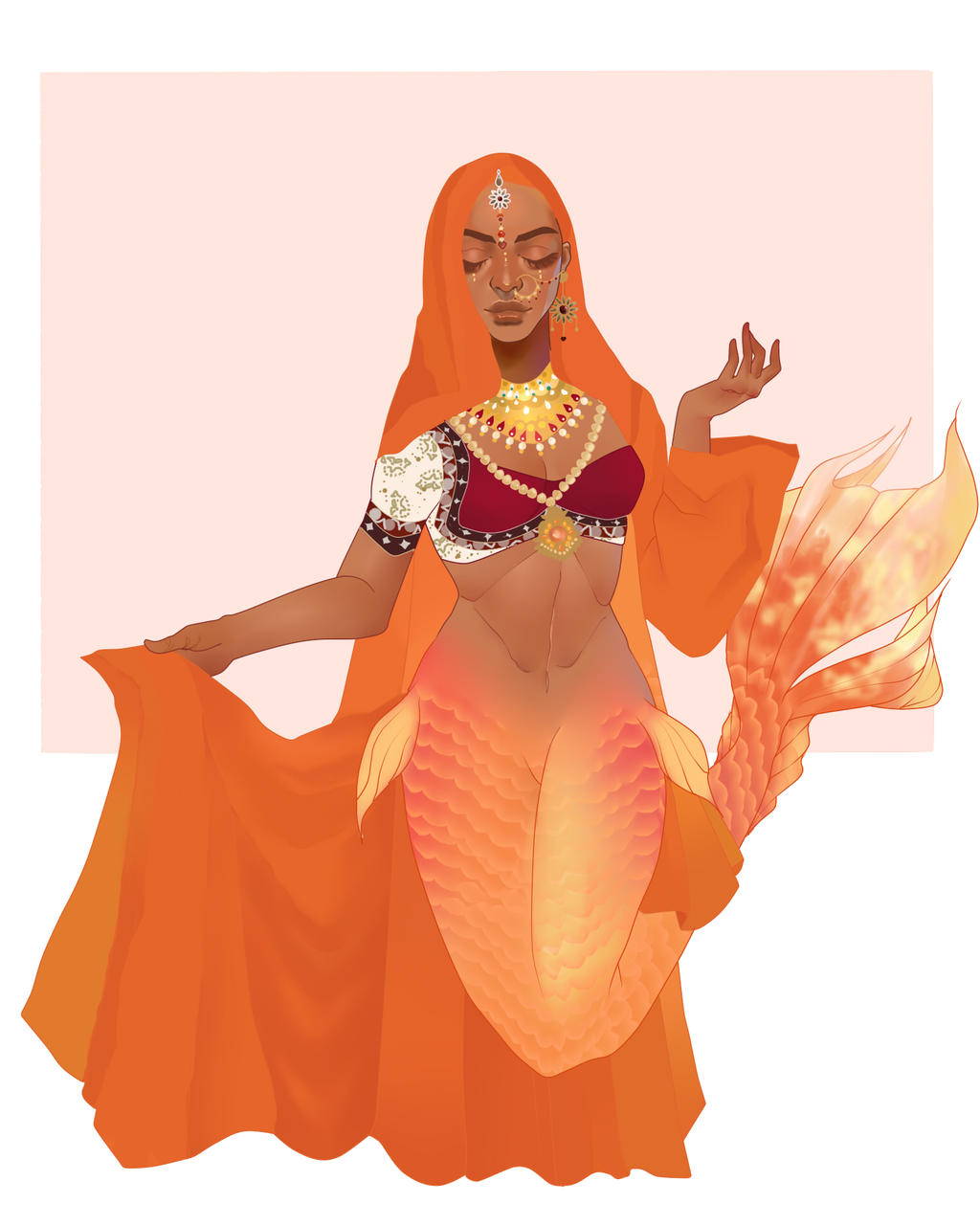 Sara the Orange Princess by pinkiecitrine