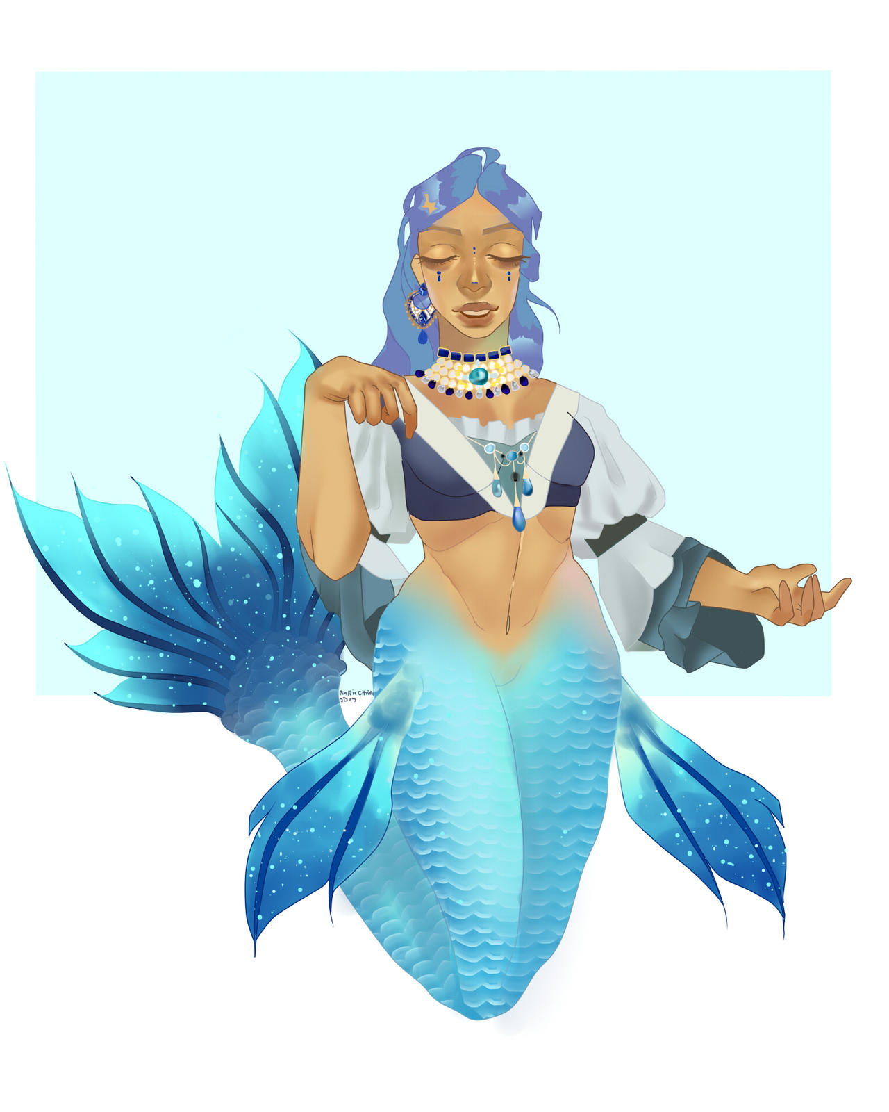 Hanon the Aqua Princess of the South Atlantic by pinkiecitrine