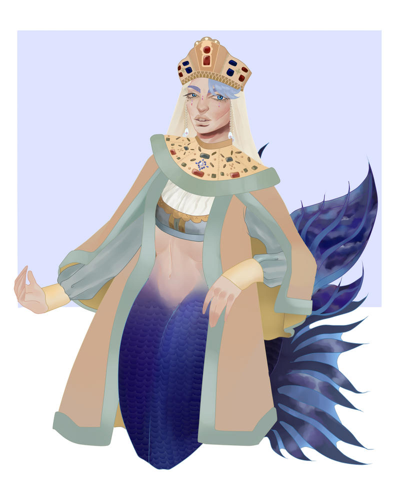 Noel the Indigo Princess of the Arctic Ocean by pinkiecitrine