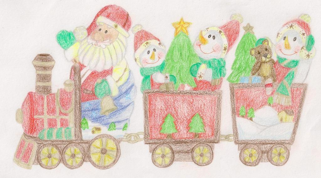 Santa's Train by summerdaze13