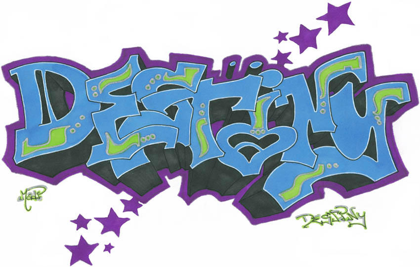 The Name Destiny In Graffiti Destiny by xjdmThe Name Destiny In Bubble Letters