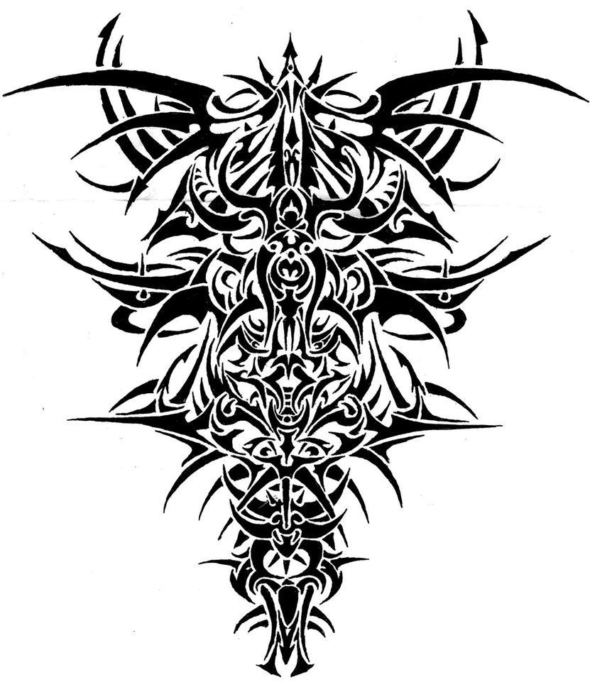 freehand tribal pillar by jeremythatisme on deviantart. Black Bedroom Furniture Sets. Home Design Ideas