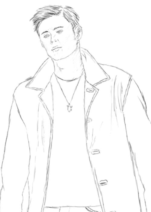Dean Winchester Supernatural first sketch by EliteRocketbear
