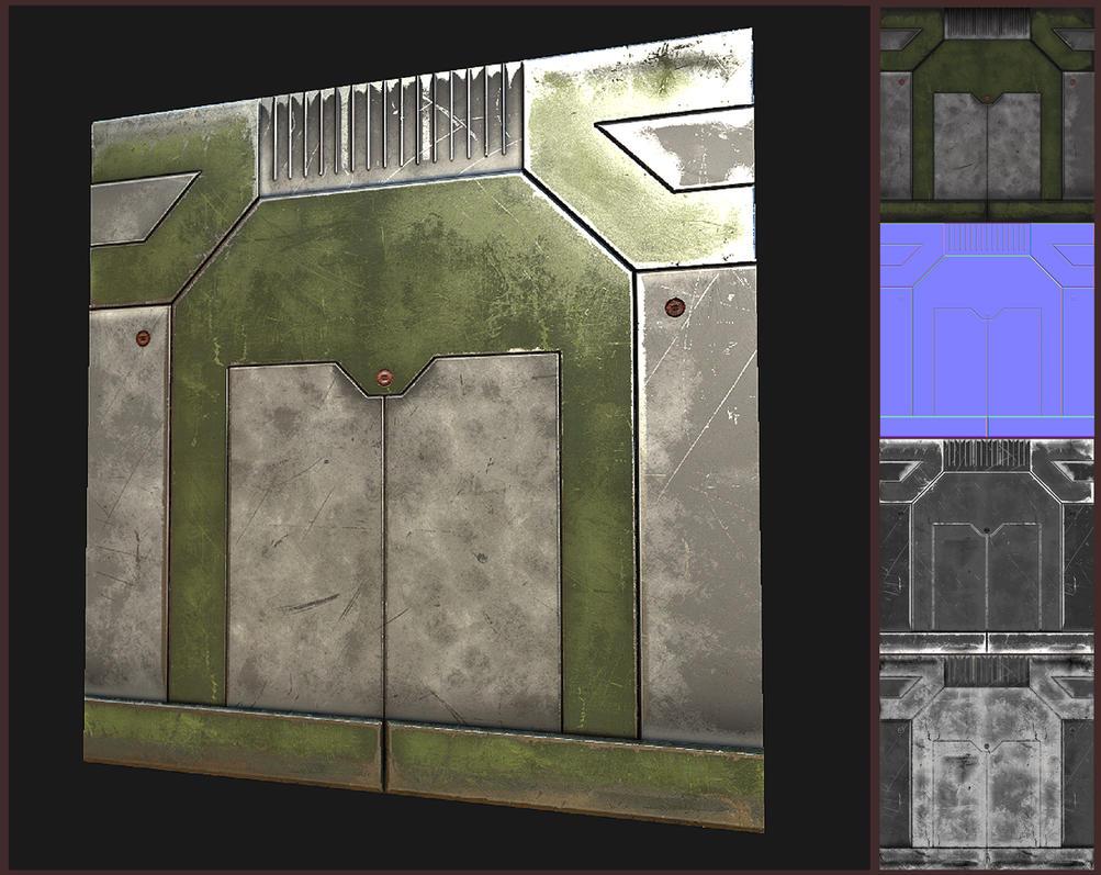 Sci-fi Wall panel by EliteRocketbear