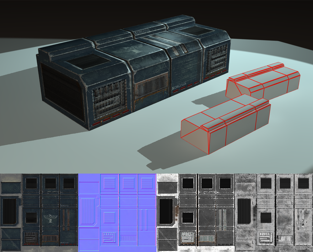 Simple 3D object - Warhammer 40k Generator/prop by EliteRocketbear
