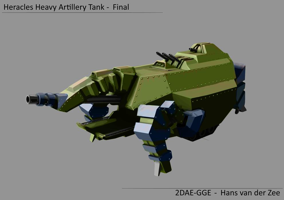 Heracles Heavy Artillery tank by EliteRocketbear