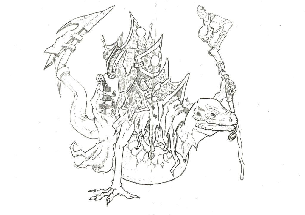 Ophidian Sage -- Line Art by EliteRocketbear