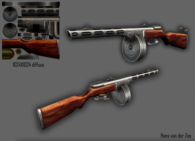 PPSH41 Texture by EliteRocketbear